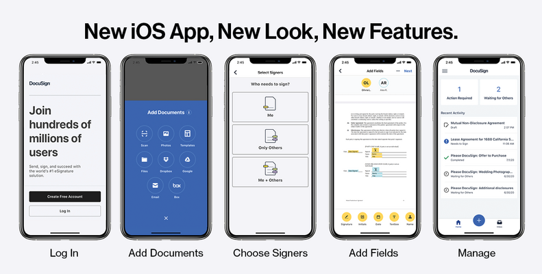 iOS DocuSign eSignature App