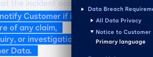 Screenshot image of Docusign Analyzer's clause library