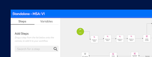 Screenshot image showing integration with DocuSign CLM for workflow routing.