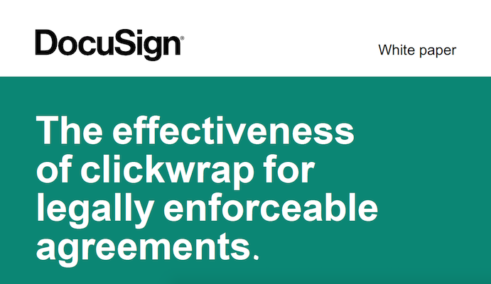 Clickwrap Legality Whitepaper – Canada
