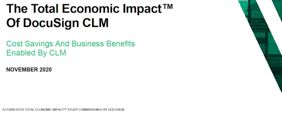 The total economic impact of DocuSign CLM 2020