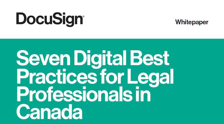 Seven Digital Best Practices for Legal Professionals - Docusign