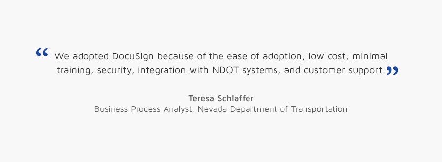 Teresa Schlaffer, Business Process Analyst, Department of Transportation quote