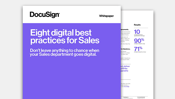 Read the white paper about the eight digital best practices for sales