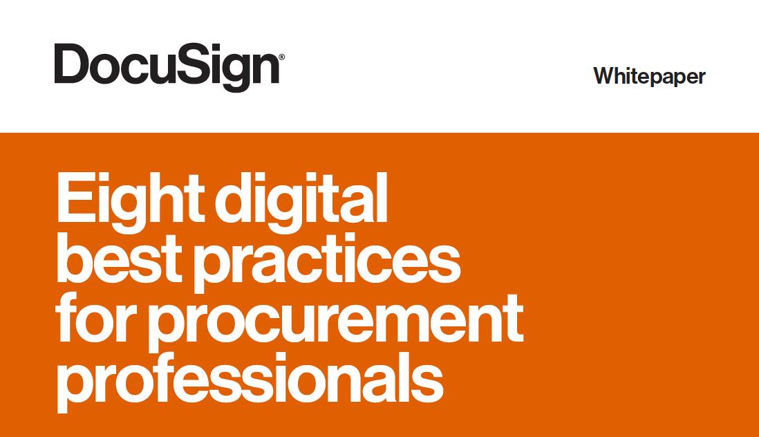 Eight Digital Best Practices for Procurement Professionals