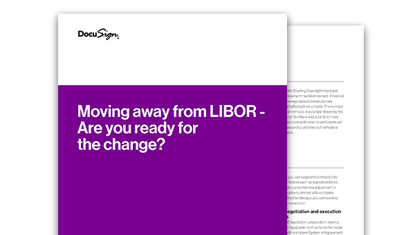 The front and back of the LIBOR whitepaper.