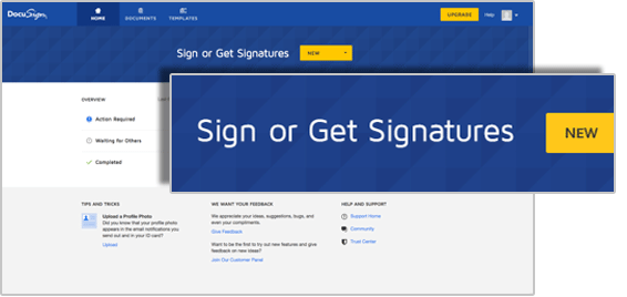 Upload a document to DocuSign