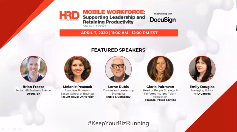 Mobile Workforce Supporting Leadership and Retaining Productivity