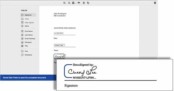 Step 2, drop and drop signature