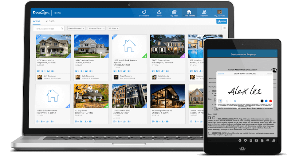 Rooms for Real Estate shows you all your active and closed listings, on computers and mobile devices.