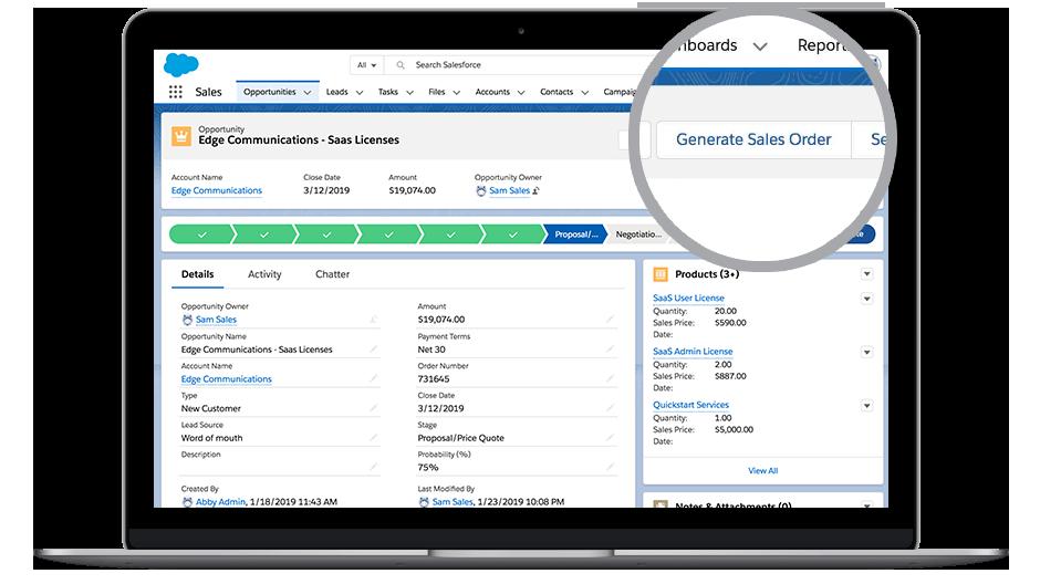 Screenshot of DocuSign Gen for Salesforce.
