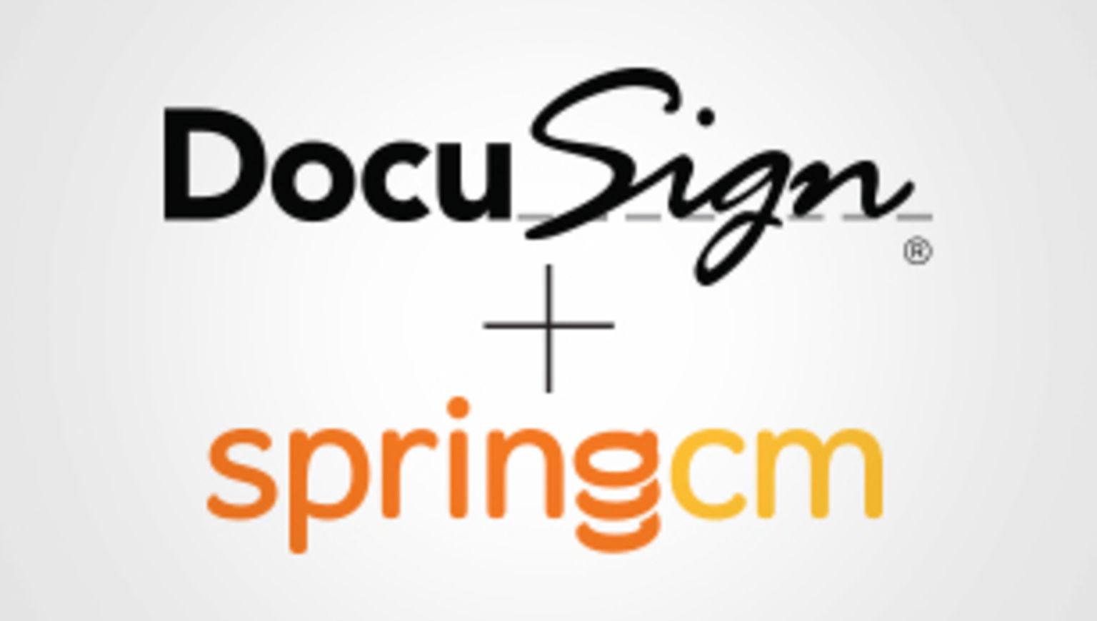 DocuSign to acquire SpringCM