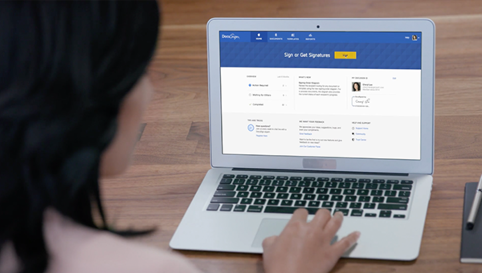 See how DocuSign electronic signatures work